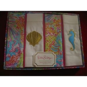 Lilly Pulitzer cocktail napkin set Lovers Coral